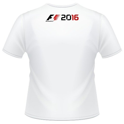 Camiseta Infantil F1 2016 Formula 1 Game Camisa. Cor  Branco 3d2ce14841e7d