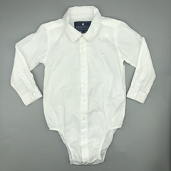 Camisa body Baby Cottons Talle 9 meses blanca