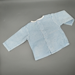 Conjunto Baby Cottons Talle 3 meses plush celeste y blanco - Baby Back Shop