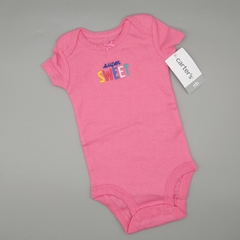 Body NUEVO Carters Talle NB (0 meses) rosa super sweet