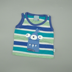 Musculosa Owoko Talle 1 (3 meses) rayas azules verdes