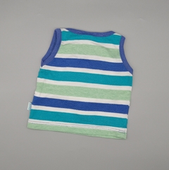 Musculosa Owoko Talle 1 (3 meses) rayas azules verdes - comprar online