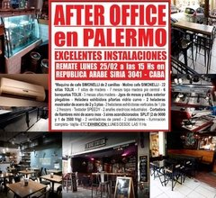REMATE DE AFTER OFFICE EN PALERMO - 25/2