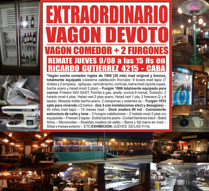 remate vagon restaurante en devoto