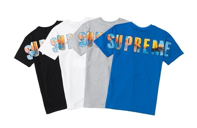 diseño unico zapatos deportivos estilo clásico de 2019 Camiseta Supreme Summer