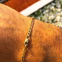 Pulsera Fígaro oro 18k - Golden Luxury