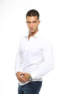 Camisa Lisa Slim Fit Blanca 3140