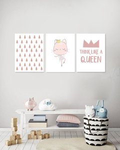 Triptico Think Like a Queen