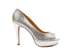 Stiletto Peep Toe Plata