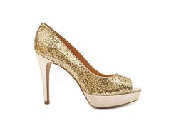 Stiletto Peep Toe Oro