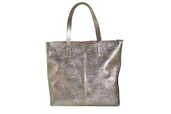 Shopping Bag Mary Croco Platino - tienda online