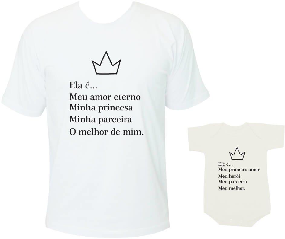 Camisetas Tal Pai Tal Filha Ela é Meu Amor Eterno
