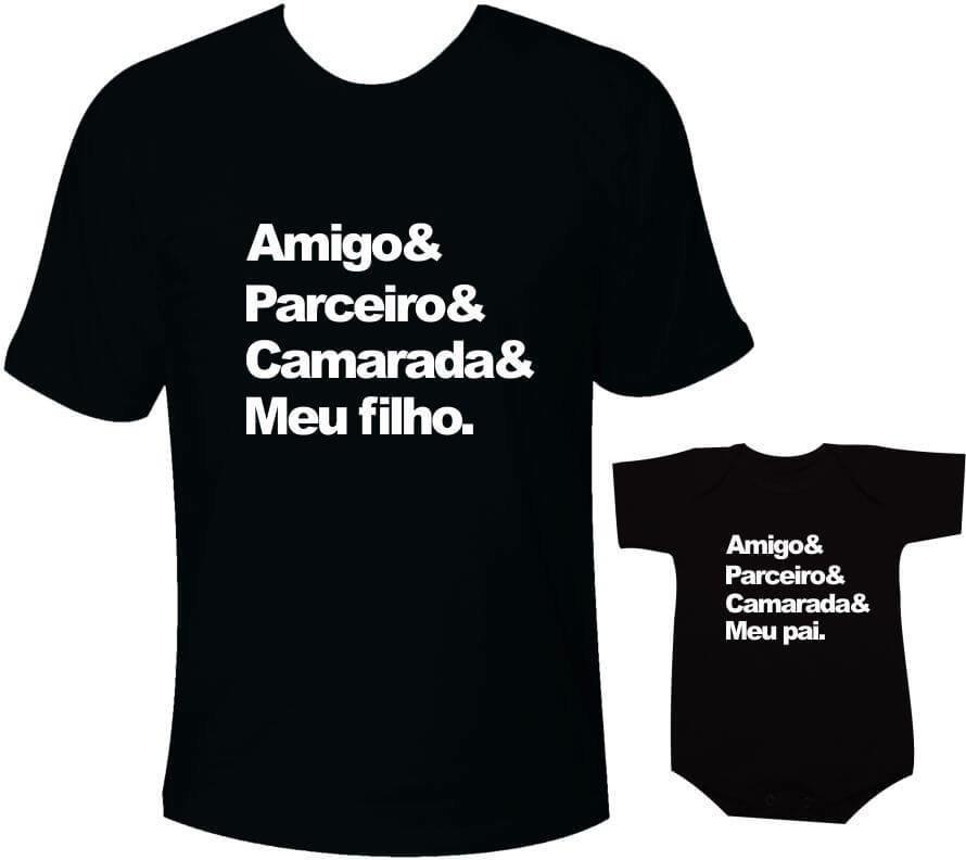 10f2acd9a5c2 Camisetas Tal pai tal filho Amigo Parceiro Camarada Meu filho