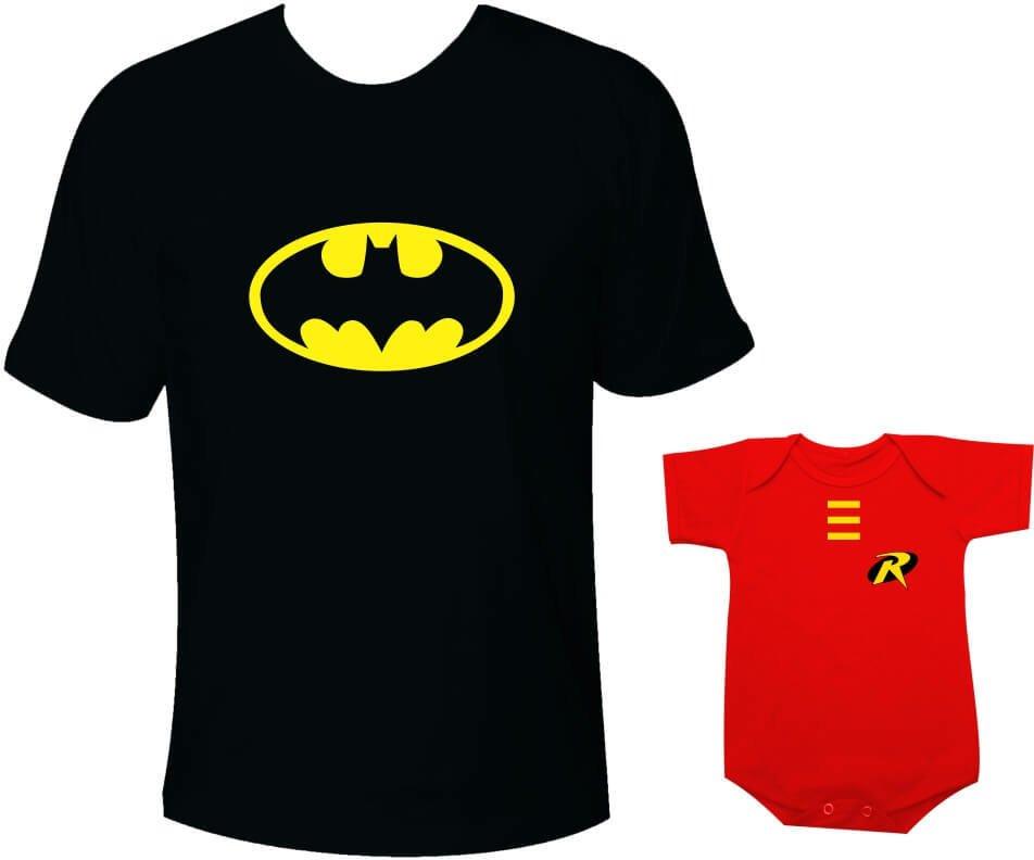669d946b5779c6 Camisetas Tal pai tal filho Batman e Robin