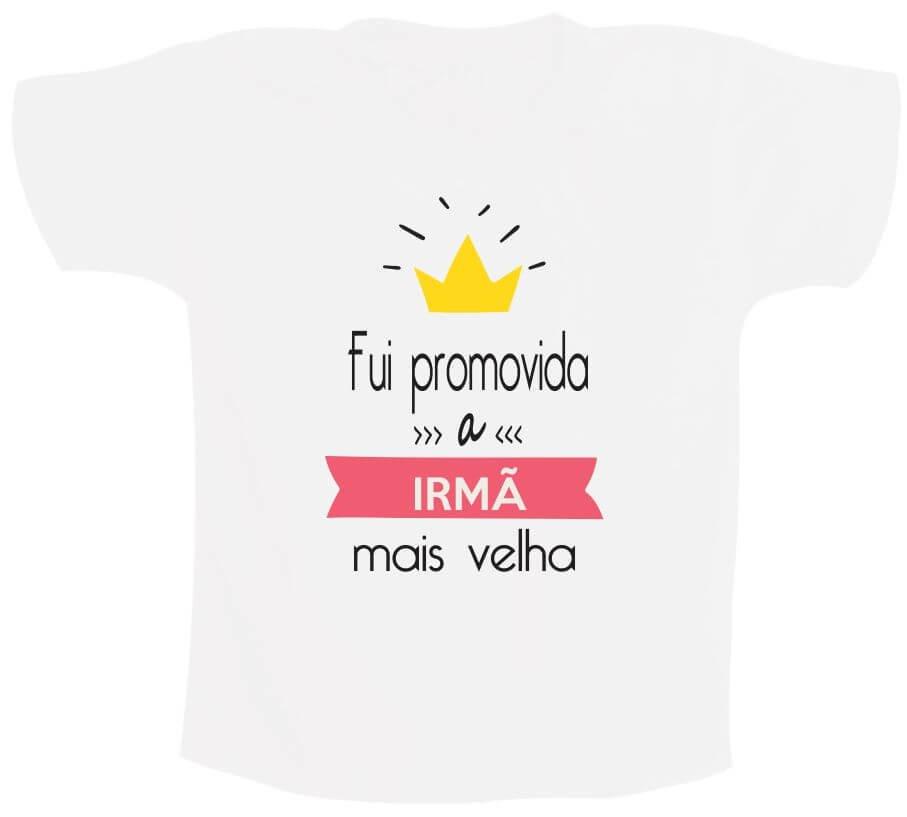 f8e00559bfe1 Camiseta Fui promovida a irmã mais velha