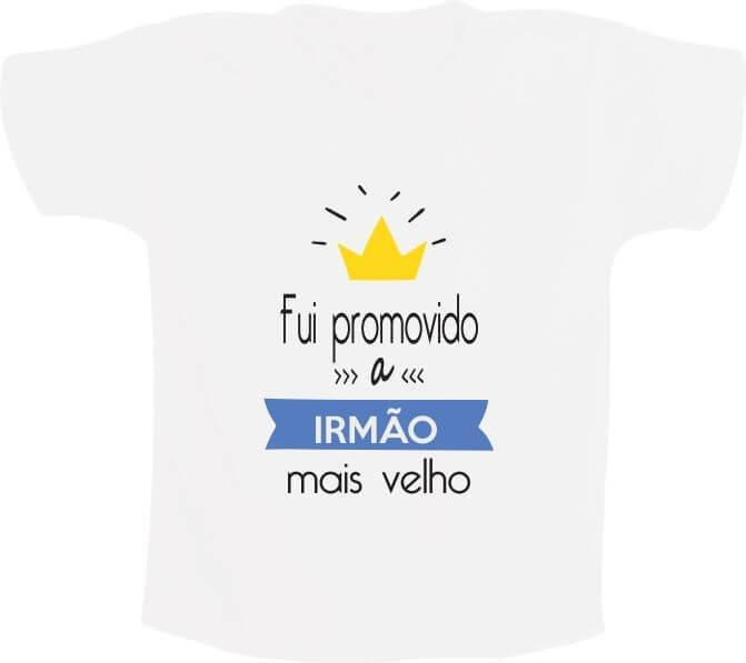 9e63bb894c24 Camiseta Fui promovido a irmão mais velho