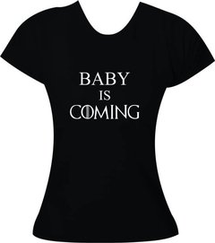 Camiseta Gestante Baby is coming