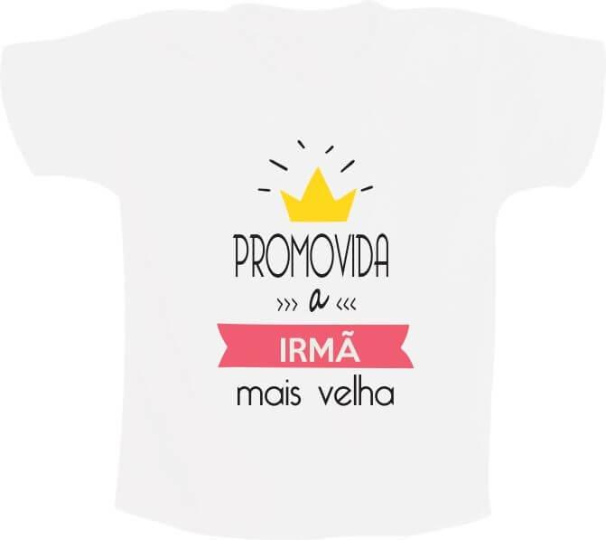 Camiseta Promovida A Irmã Mais Velha Com Coroa