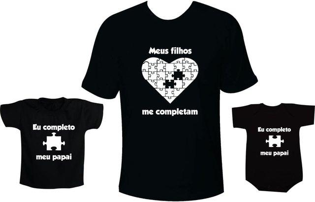 Camisetas Tal Pai Tal Filho Meus Filhos Me Completam Eu