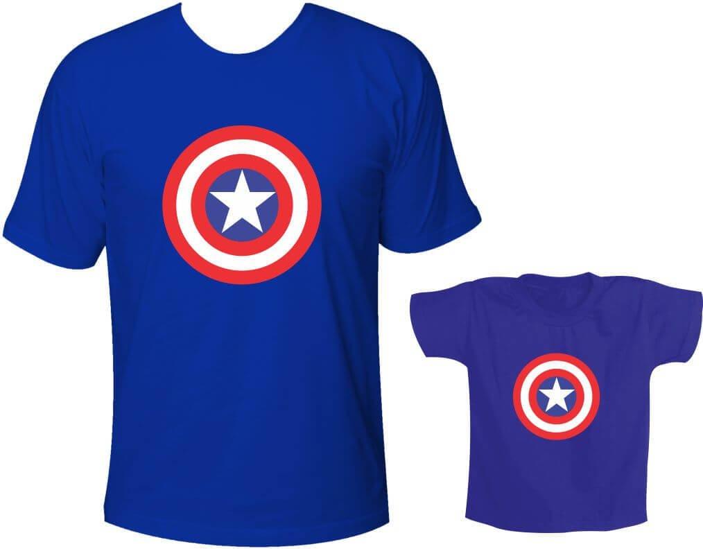 b877c1fec238ed Camisetas Tal pai tal filho Capitão América