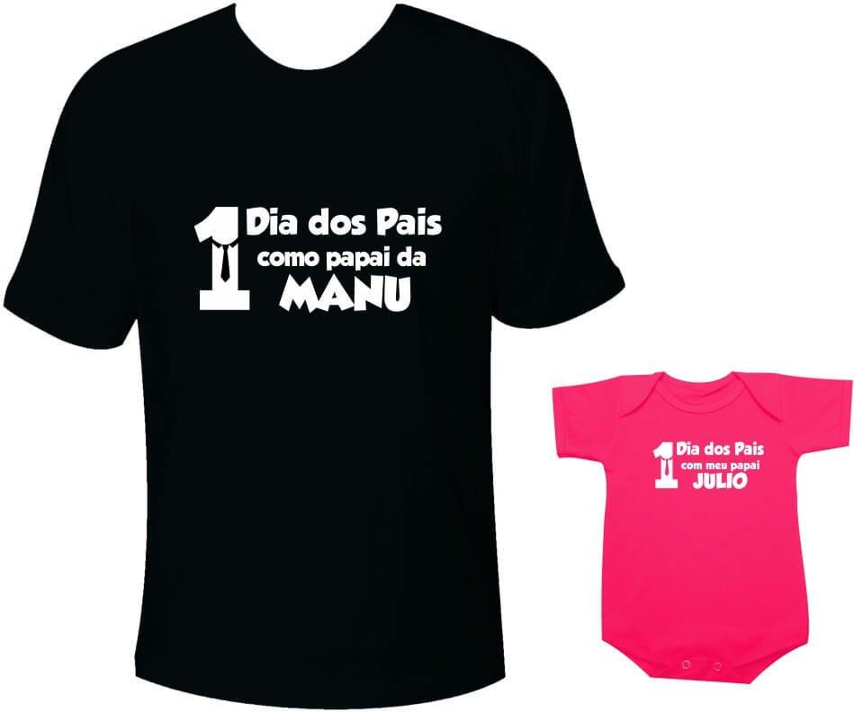 436fa8687fe4 Camisetas Tal pai tal filha Primeiro Dia dos Pais