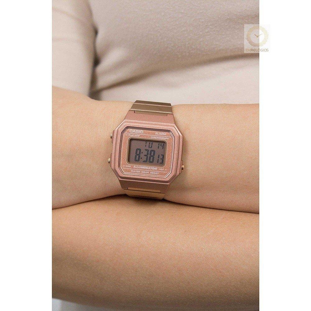 68692d948e1 Relógio Casio Vintage Feminino B650WC-5ADF Rosé