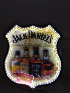Placa Decorativa Luminosa Jack Daniels Whisky Bar Led