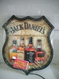 Placa Decorativa Luminosa Jack Daniels Whisky Bar Led - comprar online