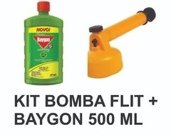 Kit Inseticida Baygon Líq 500 Ml Mais Bomba Flit Guarany