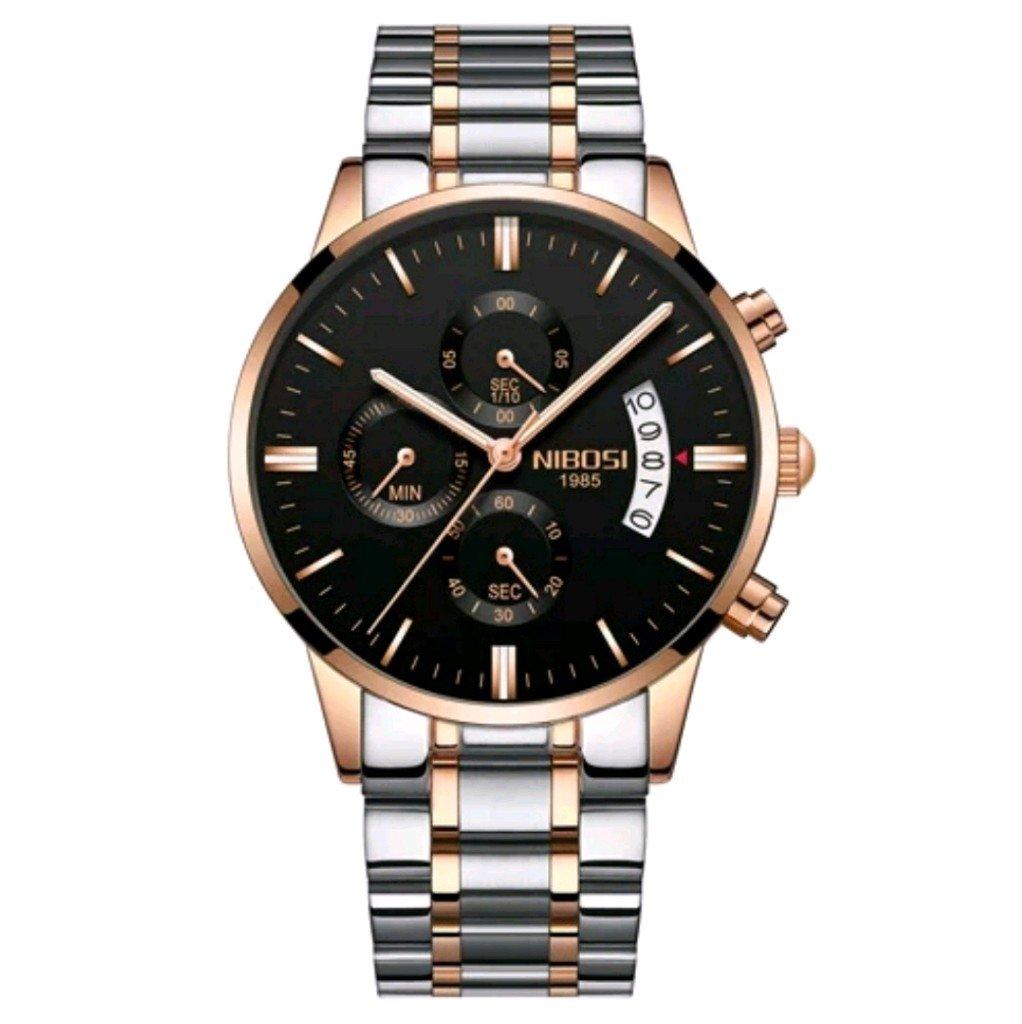 b6f9c1e2741 Relógio Blindado NIBOSI Inox Funcional