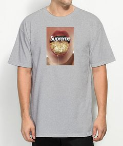 Camiseta Supreme Gold Mouth na internet