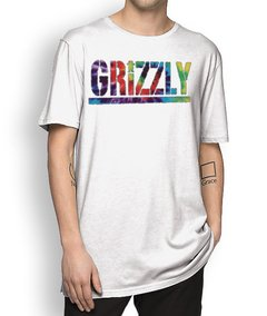 Camisetal Grizzly Letter Tie Dye na internet
