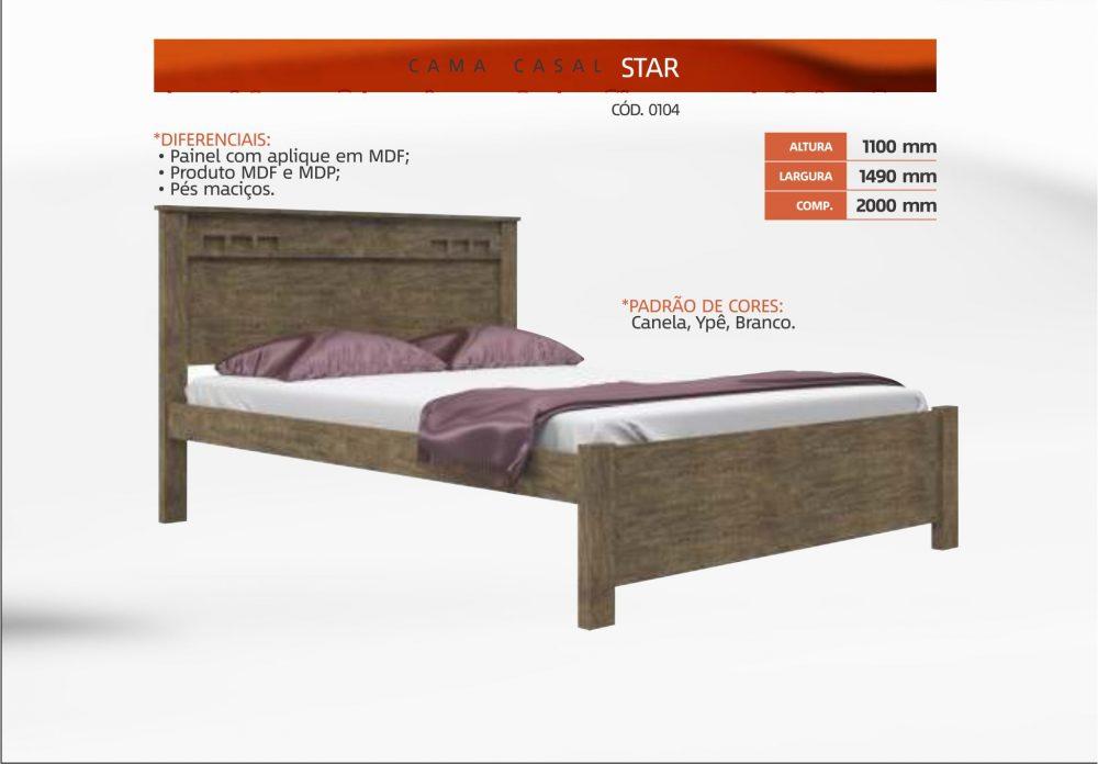 1681047781 Cama Casal Star Móveis Leifer - Comprar em Cesta Plus