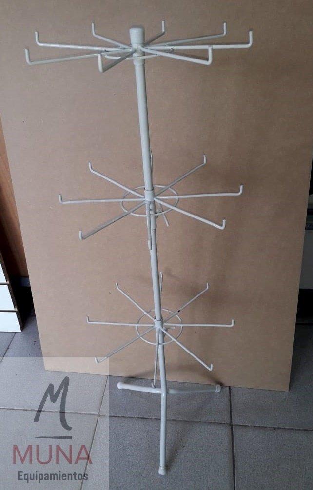47bd09c3bceb Exhibidor Bijou Collares Aros De Mostrador Giratorio Triple