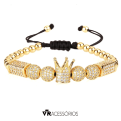 Pulseira Crown Gold Zircon