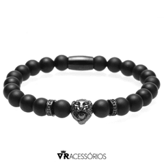 Pulseira Lion Black Exclusive Inox