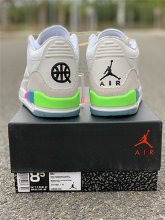 "Tênis Air Jordan 3  ""Quai 54 White"" na internet"