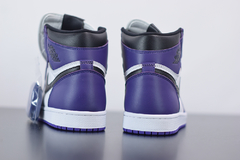 "Tênis  Jordan 1 High ""Court Purple 2.0"" na internet"