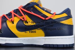 "Nike Dunk Low x Off-White ""University Gold Midnight Navy"""