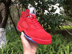 "Tênis Air Jordan 5  ''Red Suede"" - Outh Clothing"