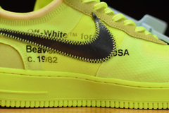 "Tênis Nike Air Force 1 Low x Off-White ""Volt"" na internet"