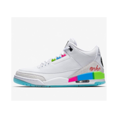 "Tênis Air Jordan 3  ""Quai 54 White"""