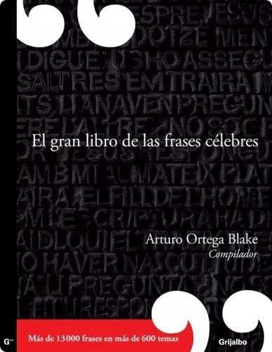 Ortega Blake Arturo El Gran Libro De Las Frases
