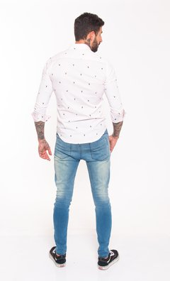 Camisa slim fit estampada tucanes #1482