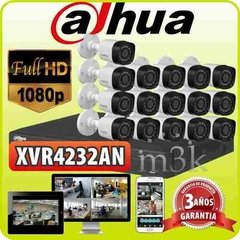 Kit Seguridad Dahua Dvr 1080 Lite 32  + 16 Camaras Hd Audio