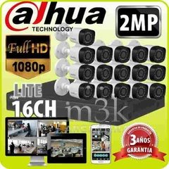 Kit Seguridad Dahua Dvr 16 +16 Camaras 1080p Full Hd 2mp M3k