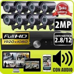 Kit Seguridad Dvr 16 + 8 Camaras Varifocal 2.8 A 12 Mm 2 Mpx