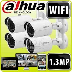 Kit Ip Wifi Dahua 4 Camaras Inalambricas Ipc-hfw1120s-w Ext