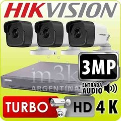 Kit Seguridad Hikvision Full Hd 1080p 4ch Ip + 3 Camaras 3mp