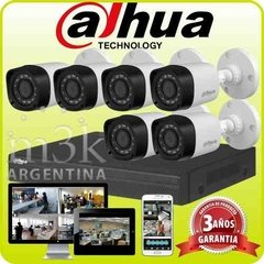 Kit Seguridad Dahua Dvr 8 + 6 Camaras Exterior Ip 66 Audio
